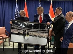"PM Gifts Framed Photograph From ""Howdy, Modi"" Event To Donald Trump"
