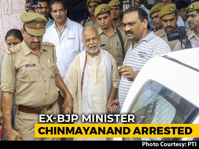 Video : BJP's Chinmayanand, Accused Of Rape By UP Law Student, Arrested