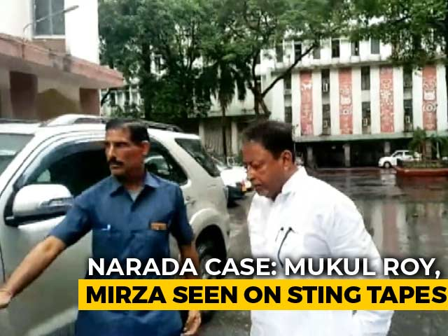 Video : BJP Leader Mukul Roy Appears Before CBI In Narada Sting Case