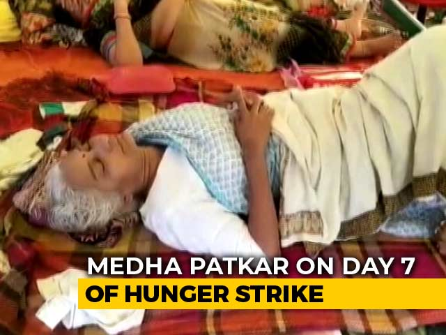 Video : Activist Medha Patkar's Health Worsens As Hunger Strike Enters 2nd Week