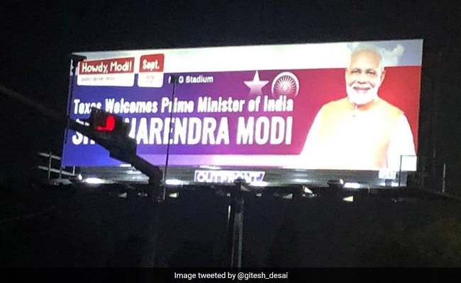 Digital Billboards Of PM Come Up In Houston Ahead Of 'Howdy, Modi!' Event