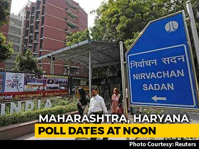 Video : Maharashtra, Haryana Election Dates To Be Announced At Noon