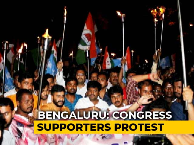 Video : Protests Erupt In Karnataka Over Congress Leader DK Shivakumar's Arrest