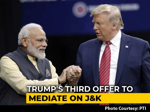 "Video : India Reasserts Position On J&K, Says ""Just Hold On"" For PM-Trump Meet"