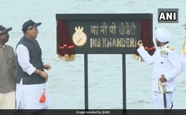भारतीय नौसेना में शामिल हुई पनडुब्बी 'खंडेरी', रक्षा मंत्री ने कहा- 26/11 जैसा हमला दोहराना चाहती हैं कुछ ताकतें, नहीं होने देंगे कामयाब