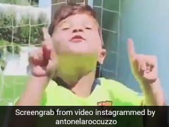 Watch: Mateo Messi Mimicking Father's Iconic Goal Celebration Is Breaking The Internet
