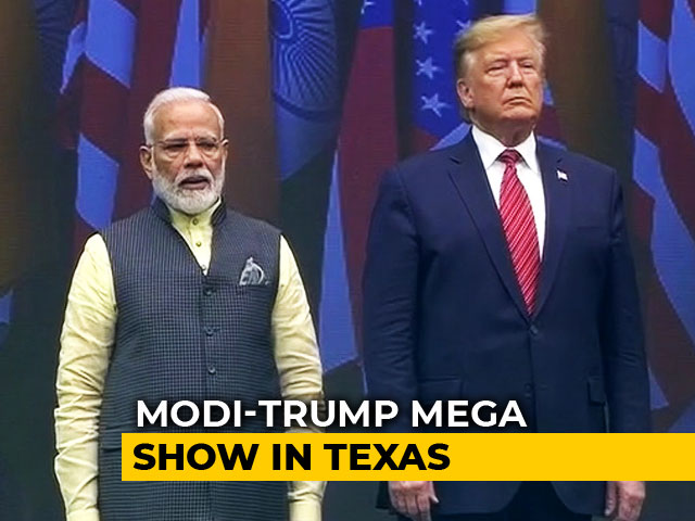 Video : Donald Trump Arrives For Mega 'Howdy, Modi!' Show With PM