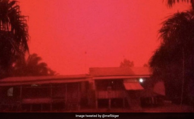 'This Is Not Mars': Indonesia Skies Turn Blood Red After Forest Fires
