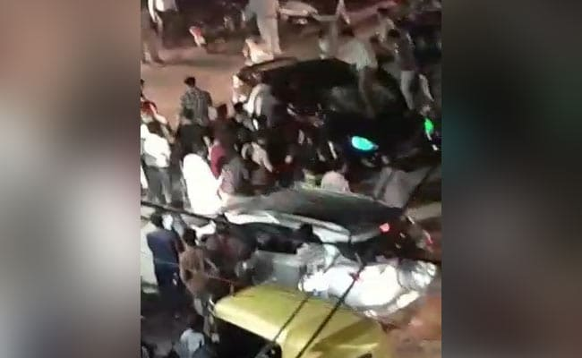 On Camera, Delhi Driver Rams Into Crowd, Reverses And Hits Again