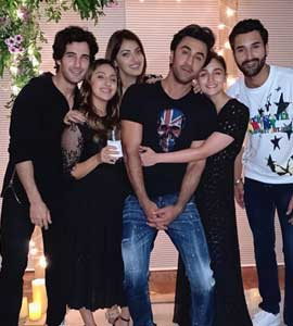 Alia And Ranbir At Akansha Ranjan's Birthday Party - The Pic Says It All