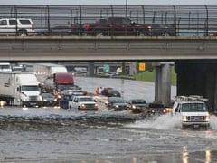 Tropical Storm Kills Two In Houston, Halts Flights, Floods Roads