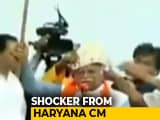 "Video : ML Khattar Threatens To Cut Off Aide's Head, Blames ""Congress Culture"""