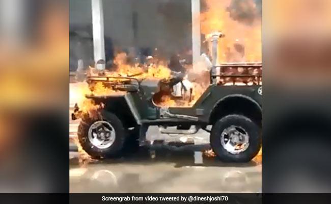 Gujarat Man Set Jeep On Fire After 'It Didn't Start', Friend Shot Video