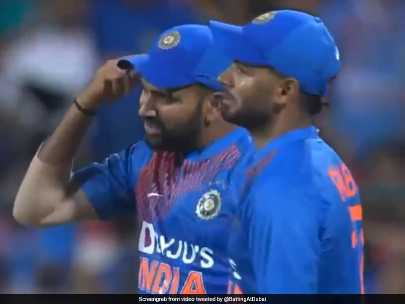 India vs South Africa: Rohit Sharma gestures Navdeep Saini to use his brain in 3rd T20I