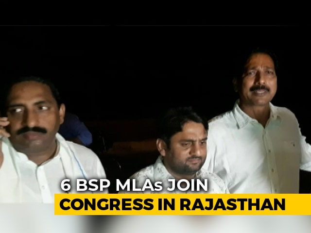 Video : Mayawati's 6 Rajasthan MLAs Switch To Congress Ahead Of Local Body Polls
