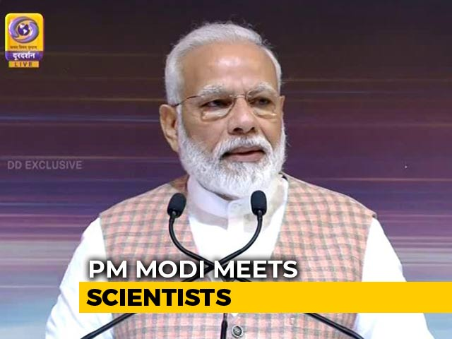 """Video : """"I Can Understand Your State Of Mind,"""" PM Modi Tells ISRO Scientists"""