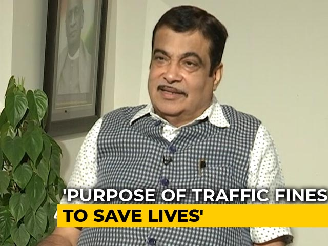 "Video : ""Need To Create Fear Of Law"": Nitin Gadkari To NDTV On Traffic Fines"