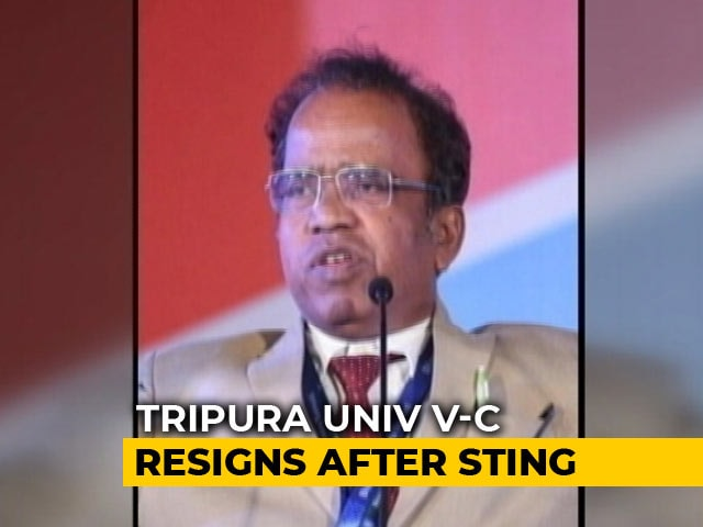 "Video : Tripura University Vice Chancellor Caught In ""Bribe"" Sting, Resigns"