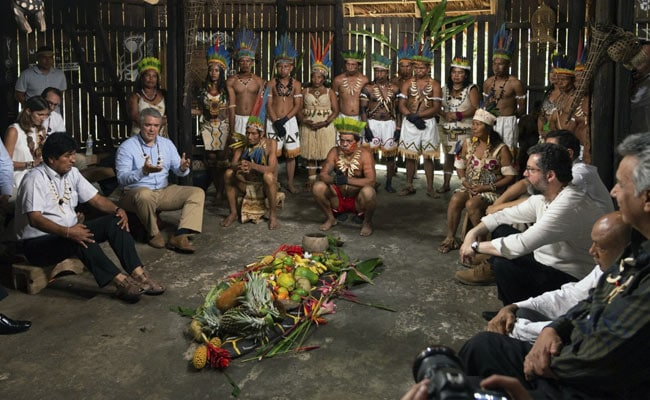 Amazon Nations Meet In Indigenous Hut At Colombia Over Forest Protection