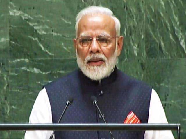 "Video : ""India's Contribution To Global Warming Very Low"": PM Modi At UN"