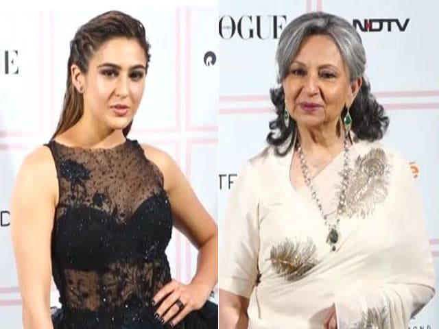 Sharmila Tagore And Sara Ali Khan At Vogue Beauty Awards 2019