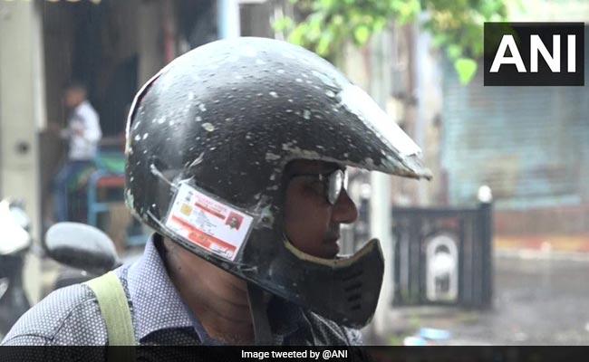 Vadodara Man Sticks Driving License, Insurance On Helmet To Avoid Fines