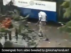 """Karnataka Cop Cleans Waterlogged Road In Viral Video. """"Hero,"""" Says Twitter"""