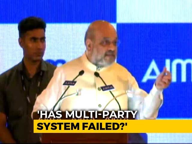 Video : Amit Shah Questions Multi-Party Democracy