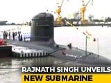Video : Khanderi, India's 2nd Scorpene Submarine, Commissioned By Rajnath Singh