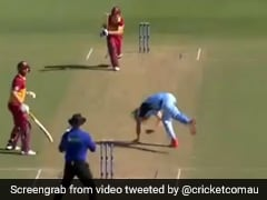 Watch: Australian Bowler's Narrow Escape After Batsman Smashes Shot Straight At Him