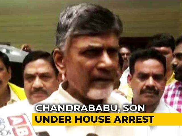"""Video : Chandrababu Naidu Under House Arrest, Party Alleges """"Murder Of Democracy"""""""