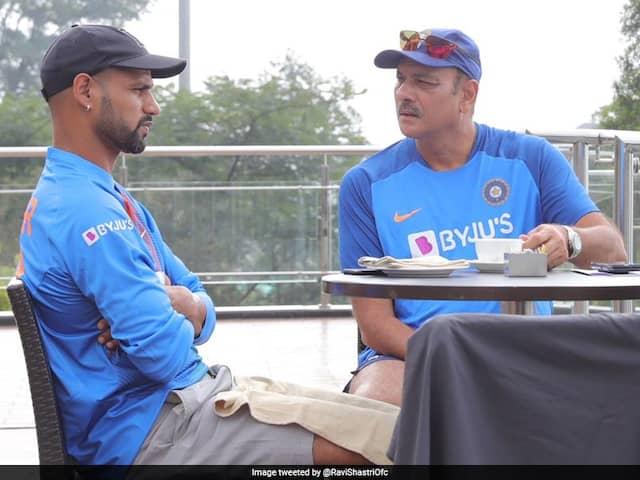 "Ravi Shastri, Shikhar Dhawan Discuss Cricket Over ""Coffee"" Ahead Of Dharamsala T20I"