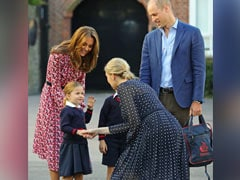 """Watch: """"Very Excited"""" Princess Charlotte Arrives For First Day Of School"""