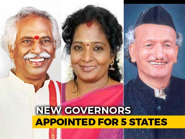 Video : New Governors Appointed In 5 States, Tamil Nadu BJP Chief Gets Telangana