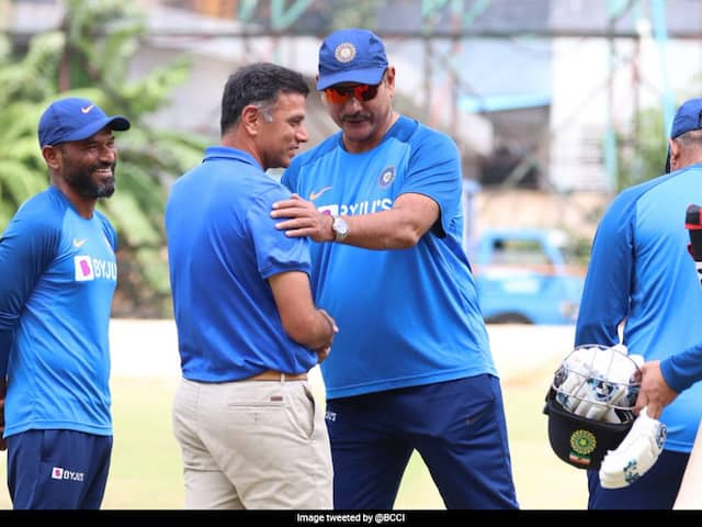 Rahul Dravid Meets Ravi Shastri, Team India Coaching Staff Ahead Of 3rd T20I, Twitter Goes On Overdrive