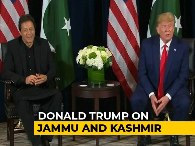 "Video : ""Can Be Good Arbitrator On Kashmir"": Trump In Meeting With Imran Khan"