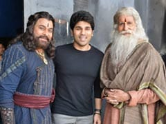 Allu Sirish's Fan Boy Moment With 'Legends' Chiranjeevi And Amitabh Bachchan