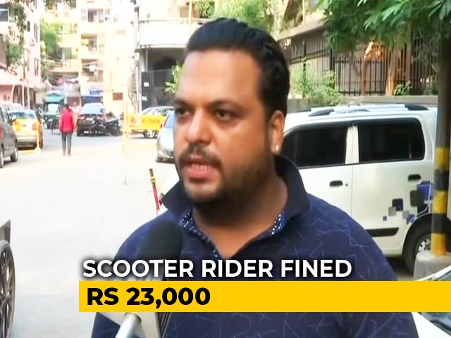 "Video : ""Scooty Worth 15,000"": Delhi Man Fined Rs. 23,000 Under New Traffic Laws"