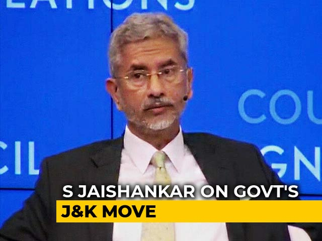 "Video : ""Kashmir Was In A Mess Before August 5"": S Jaishankar On Article 370 Move"