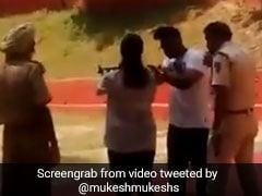 On Camera, Delhi Cop Trains Son, Daughter At Shooting Range; Suspended