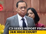 "Video : ""Will Visit J&K High Court"": Chief Justice Of India Reacts To Allegations"