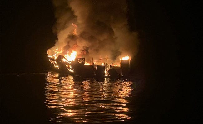8 Dead, 26 Missing As Dive Boat Sinks In Flames Off