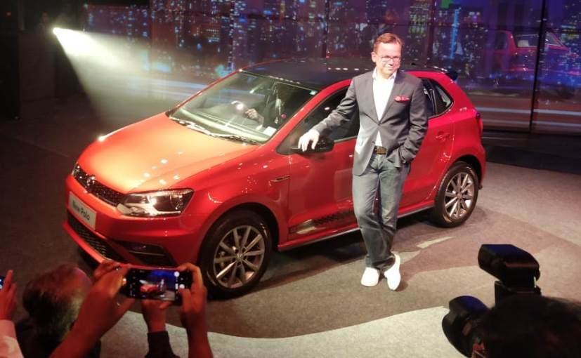 Steffen Knapp, Director VW Passenger Cars India with the new Volkswagen Polo GT Line