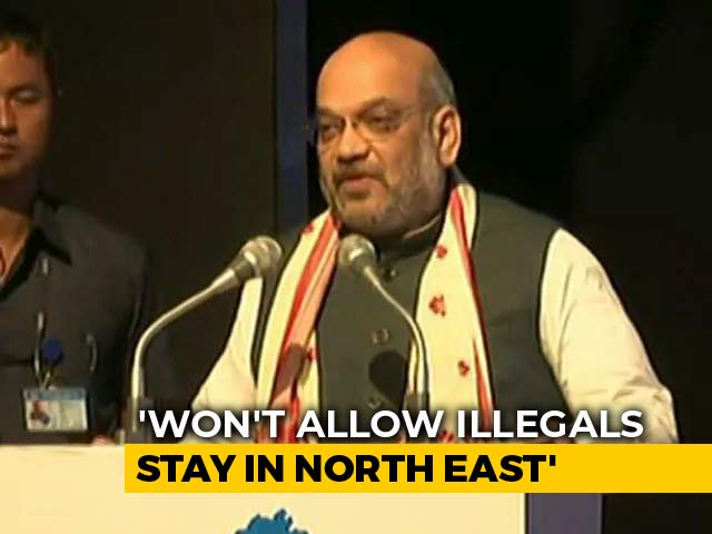 "Video : ""No Illegal Immigrant Can Stay In Assam Or Enter Other States"": Amit Shah"