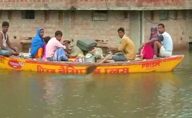 In Uttar Pradesh, Ganga Water Level Close To Danger Mark, Buildings Partially Submerged