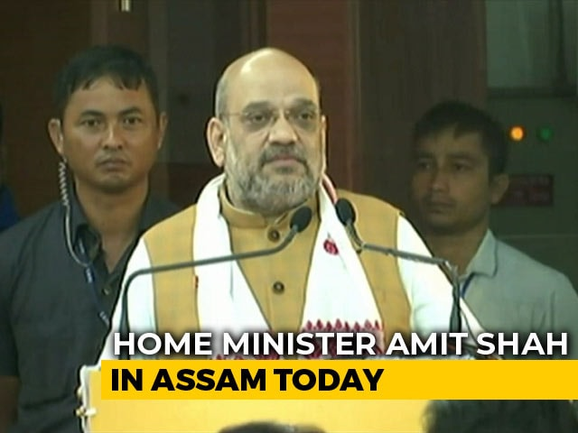 "Video : ""Every Single Illegal Immigrant Will Be Thrown Out"": Amit Shah In Assam"