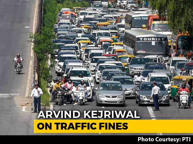 "Video : ""Roads Better After Steep Fines"": Arvind Kejriwal On Centre's Side Again"