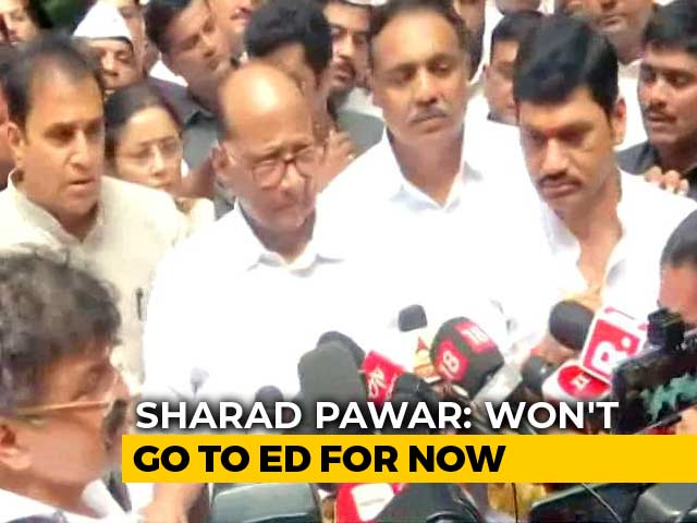 "Video : ""Won't Go There For Now"": Sharad Pawar After Probe Agency Writes To Him"