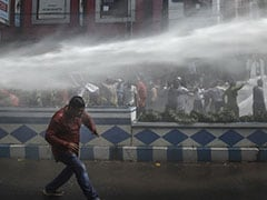 Tear Gas, Water Cannons On Kolkata Streets As BJP Workers Clash With Cops