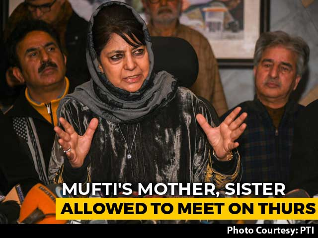 Video : Omar Abdullah, Mehbooba Mufti Finally Allowed To Meet Relatives: Sources